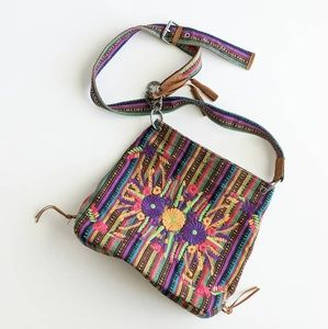 Lucky Brand Embroidered Fabric Crossbody